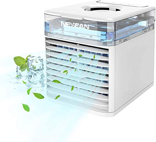 Air Cooler Bestseller 2021: NexFan Mobile Klimaanlage | 4 in1 Mini Air Cooler | 3 Geschwindigkeitsstufen | Klimagerät | Luftreiniger | Klima Ventilator | Luftkühler | Aircooler (Weiß)