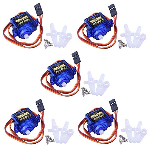 Arduino Motor Bestseller 2020: Longruner SG90 Micro Servo Motor 9G RC Robot Helicopter Airplane Boat Controls KY66-5