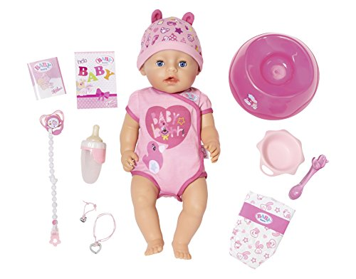 "Baby Born Bestseller 2021: Zapf Creation 824368"" Baby Born Soft Touch Girl Blue Eyes Puppe, bunt"