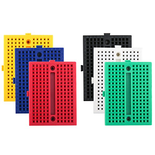 Breadboard Bestseller 2020: ELEGOO 6er Set 170 Tie Points Mini Breadboard Kit für Arduino