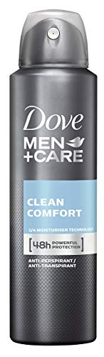 Deo Mann Bestseller 2020: Dove Men+Care Clean Comfort Deospray, 3er Pack (3 x 150 ml)
