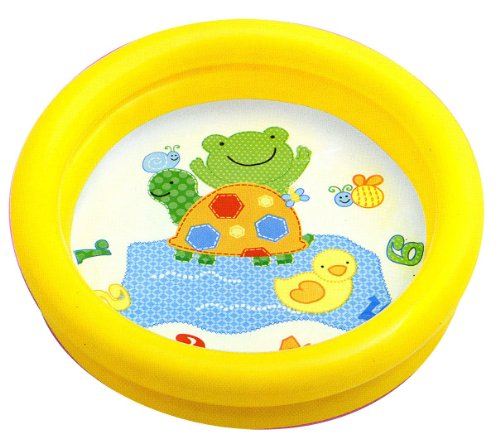 Intex Kinderpool Bestseller 2021: Intex 59409NP Plaschbecken Kinderpool My First Pool, 2-Ring, farblich sortiert (Gelb)