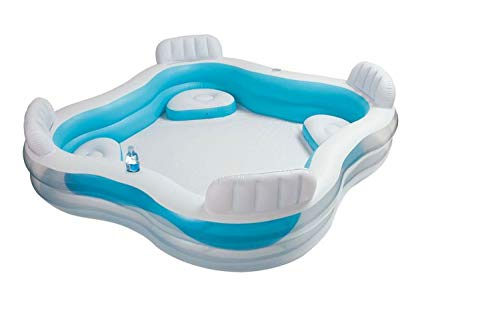 Intex Kinderpool Bestseller 2021: Intex Kinderpool Swim-Center Family Lounge Pool, Mehrfarbig, 229 x 229 x 66 cm