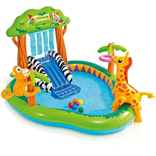 Intex Kinderpool Bestseller 2021: INTEX Aufblasbarer Pool, Kinderpool Spielcentrum Dschungel, 57155NP