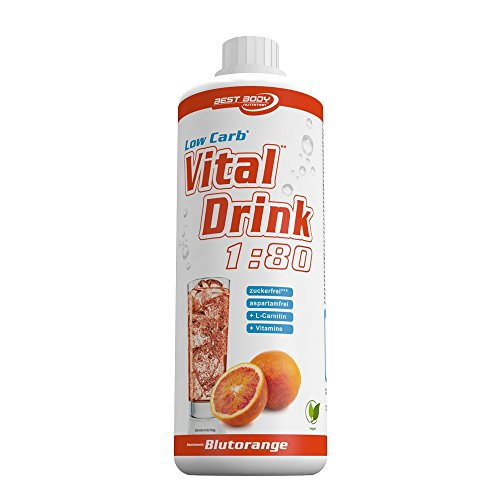 Low Carb Drink Bestseller 2020: Best Body Nutrition - Low Carb Vital Drink - Blutorange (1000ml Flasche)