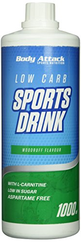 Low Carb Drink Bestseller 2020: Body Attack Low Carb Sports Drink, Woodruff /Waldmeister, 1er Pack, (1x 1000ml)