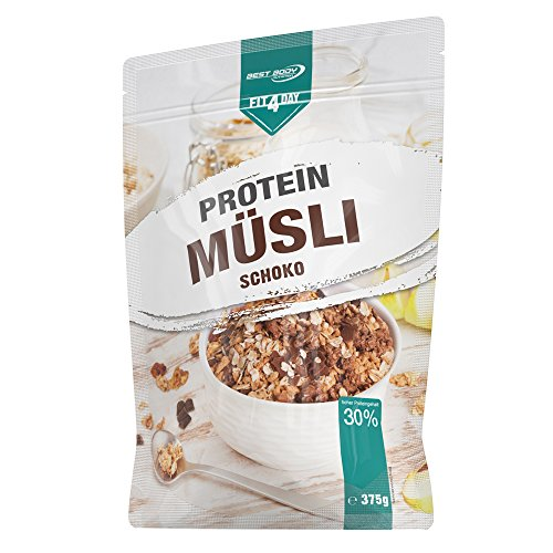 Low Carb Müsli Bestseller 2021: Best Body Nutrition Fit4Day Protein Müsli Schoko, 375 g
