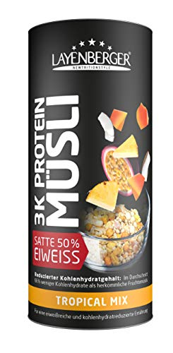 Low Carb Müsli Bestseller 2021: Layenberger 3K Protein Müsli Tropical Mix, 360 g