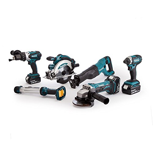 Makita Werkzeugset Bestseller 2019: Makita DLX6044PT 18v 3x5.0Ah LXT 6 Piece Kit Twin Port Charger, 110 W, 18 V