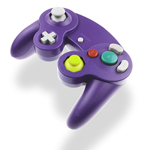 Nintendo Gamecube Spiele Bestseller 2020: Gamecube Controller Joystick für Wii Wired Game Controller Joypad Dual Vibration NGC Gamepad Game Cube Original Controller Gamecube Spiele für GC & Wii (Lila)
