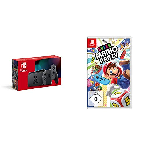 Intendo Switch Bestseller 2020: Nintendo Switch Konsole - Grau (2019 Edition) + Super Mario Party