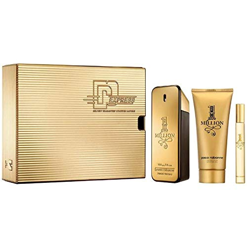 One Million Herren 200ml Bestseller 2020: Paco Rabanne - 1 Million Set - 100ml EDT + 100ml Showergel + 10ml Travel-Spray