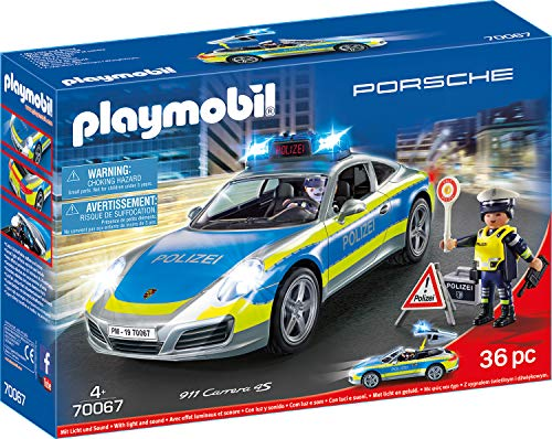 Playmobil Auto Bestseller 2020: PLAYMOBIL 70067 City Action Porsche 911 Carrera 4S Polizei, bunt