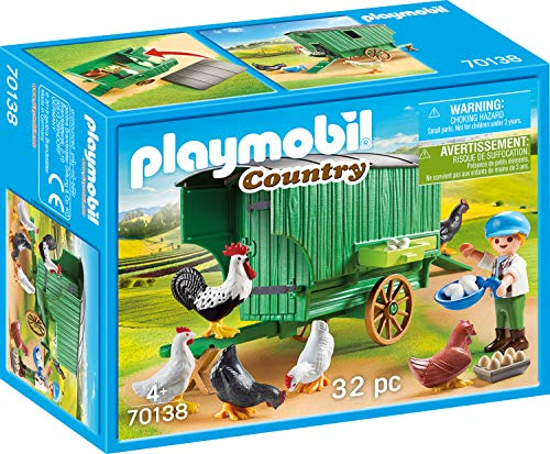 Playmobil Tiere Bestseller 2020: Playmobil 70138 Country Mobiles Hühnerhaus, bunt