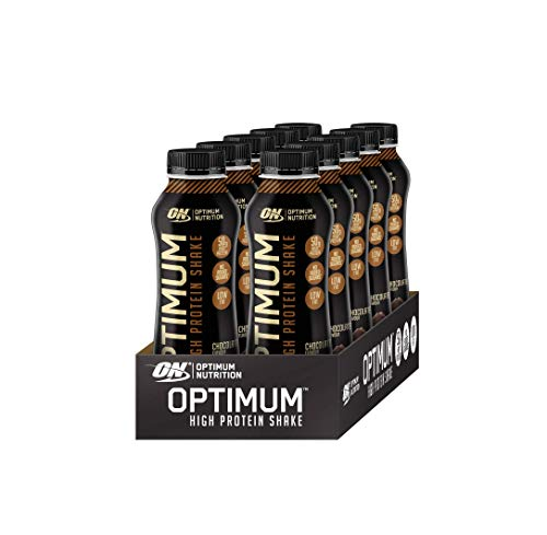 Proteinshake Bestseller 2020: Optimum Nutrition High Protein Shake (Ready To Drink, 50g Eiweiß, 21g Kohlenhydrate und wenig Fett) Chocolate, 1er Pack (10 x 500ml)