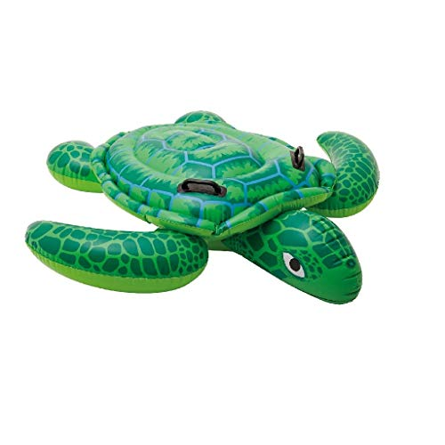 Schwimmtiere Aufblasbar Bestseller 2021: Intex Lil' Sea Turtle Ride-On - Aufblasbarer Reittier - 150 x 127 cm