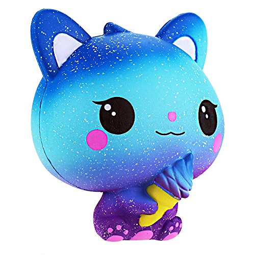 Squishy Bestseller 2019: Squishie Bunte Katze Eiscreme Galaxie Süß Kinder Spielzeug Langsam Steigend Antistress Squishy Galaxy Cat Ice Cream Slow Rising Kawaii Soft (10*8*11cm)