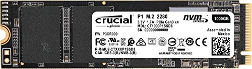 SSD 1TB Bestseller 2021: Crucial P1 CT1000P1SSD8 1TB Internes SSD (3D NAND, NVMe, PCIe, M.2)