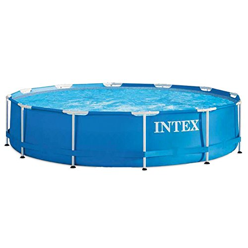 Swimmingpool Komplettset Bestseller 2020: Intex Metal Frame Pool - Aufstellpool -  Ø 366 x 76 cm