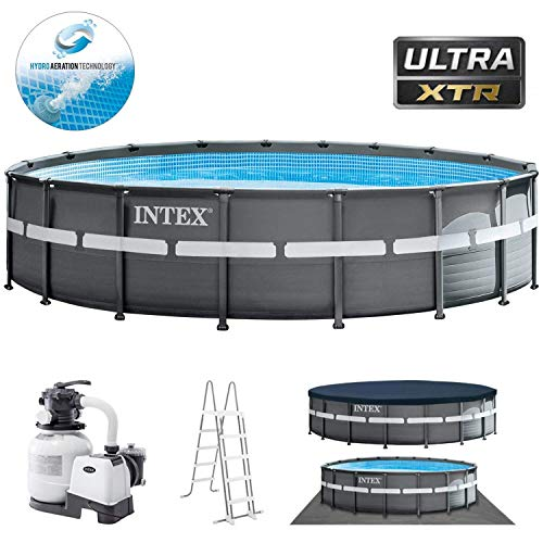Swimmingpool Komplettset Bestseller 2020: Intex Swimming Pool Ø 549 x 132 cm Frame Pool Set Ultra Rondo XTR 26330