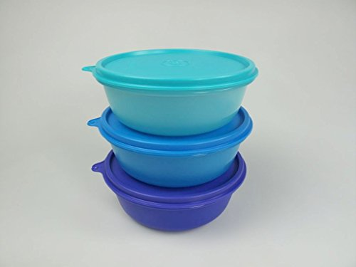 Tupperware Bestseller 2020: TUPPERWARE Kühlschrank Hit-Parade 600 ml dunkelblau + blau + türkis Panorama