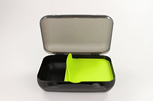 Tupperware Bestseller 2020: TUPPERWARE Lunch-Box limette mit Trennung Brotbox To Go Sandwich schwarz 14856