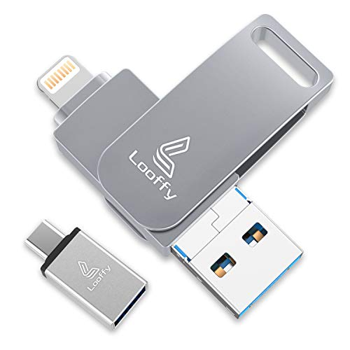 Usb Stick Iphone Bestseller 2020: Looffy USB Stick für iPhone USB Speicher Stick iOS Flash Drive 3.0 64GB Speichererweiterung für iPhone Android Handy iPad iPod Tablet Computer MacBook 4 in 1